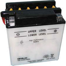 YB10L-A2 Dry Charge Battery: Acid Required