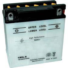 YB9L-B Dry Charge Battery: Acid Required