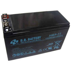 12 Volt, 9 Ah Sealed Lead Acid Rechargeable Battery with B1 Connector