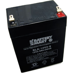 12 Volt 2.9 Ah Sealed Lead Acid Rechargeable Battery - F1 Terminal