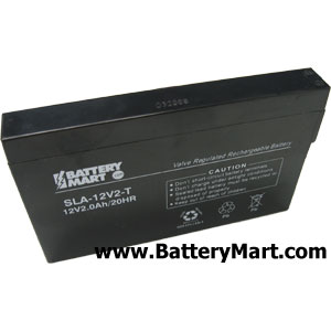 12 Volt 2 Ah Sealed Lead Acid Rechargeable Battery - F1 Terminal