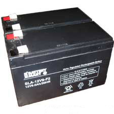 12 Volt 9 Ah Sealed Lead Acid Rechargeable Battery - 2 Pack