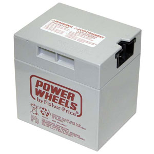 Fisher Price 12 Volt Power Wheels Gray Battery