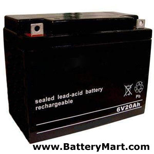 6 Volt 20 Ah Sealed Lead Acid Rechargeable Battery