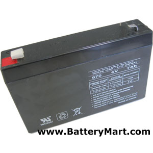 6 Volt 7 Ah Sealed Lead Acid Rechargeable Battery - F1 Terminal