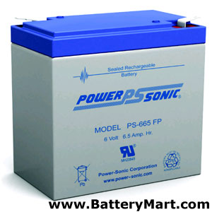 6 Volt, 6.5 Ah Sealed Lead Acid Rechargeable Battery