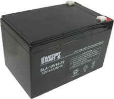 12 Volt 14 Ah Sealed Lead Acid Rechargeable Battery - F2 Terminal