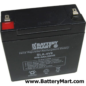 4 Volt 9 Ah Sealed Lead Acid Rechargeable Battery - F1 Terminal