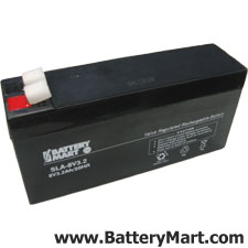 8 Volt, 3.2 Ah Sealed Lead Acid Rechargeable Battery