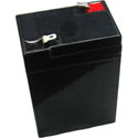6 Volt 4.5 Ah Sealed Lead Acid Rechargeable Battery - F1 Terminal