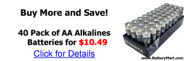 Buy more and save! 40 Pack of AA alkaline batteries for 10.49