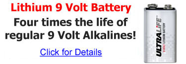 9 Volt Lithium Battery - 4 Times the Life of 9V Alkalines