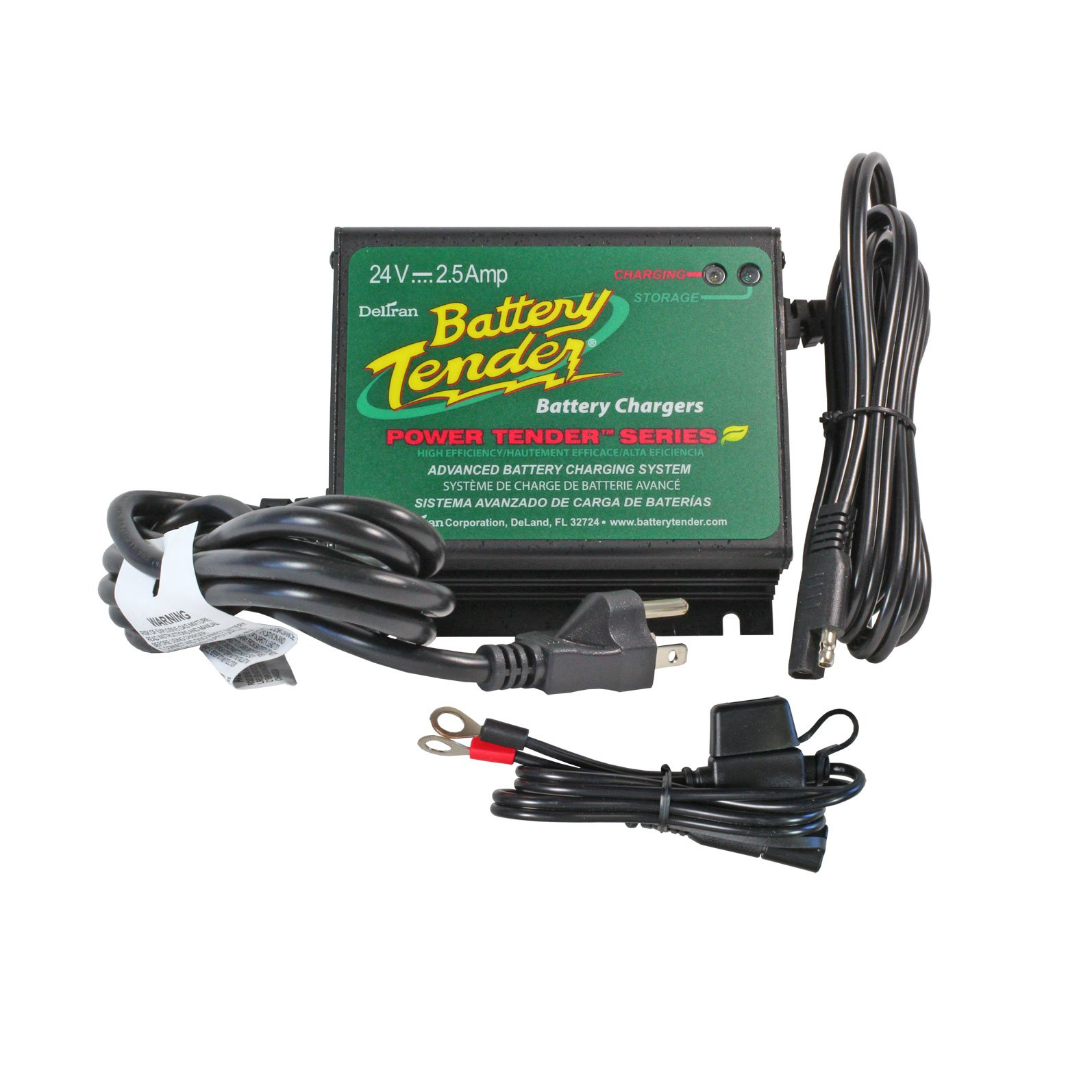 Battery Tender 24 Volt 25 Amp Water Resistant Charger Sealed Lead Acid Dual Step Current Mode California Compliant Free Shipping