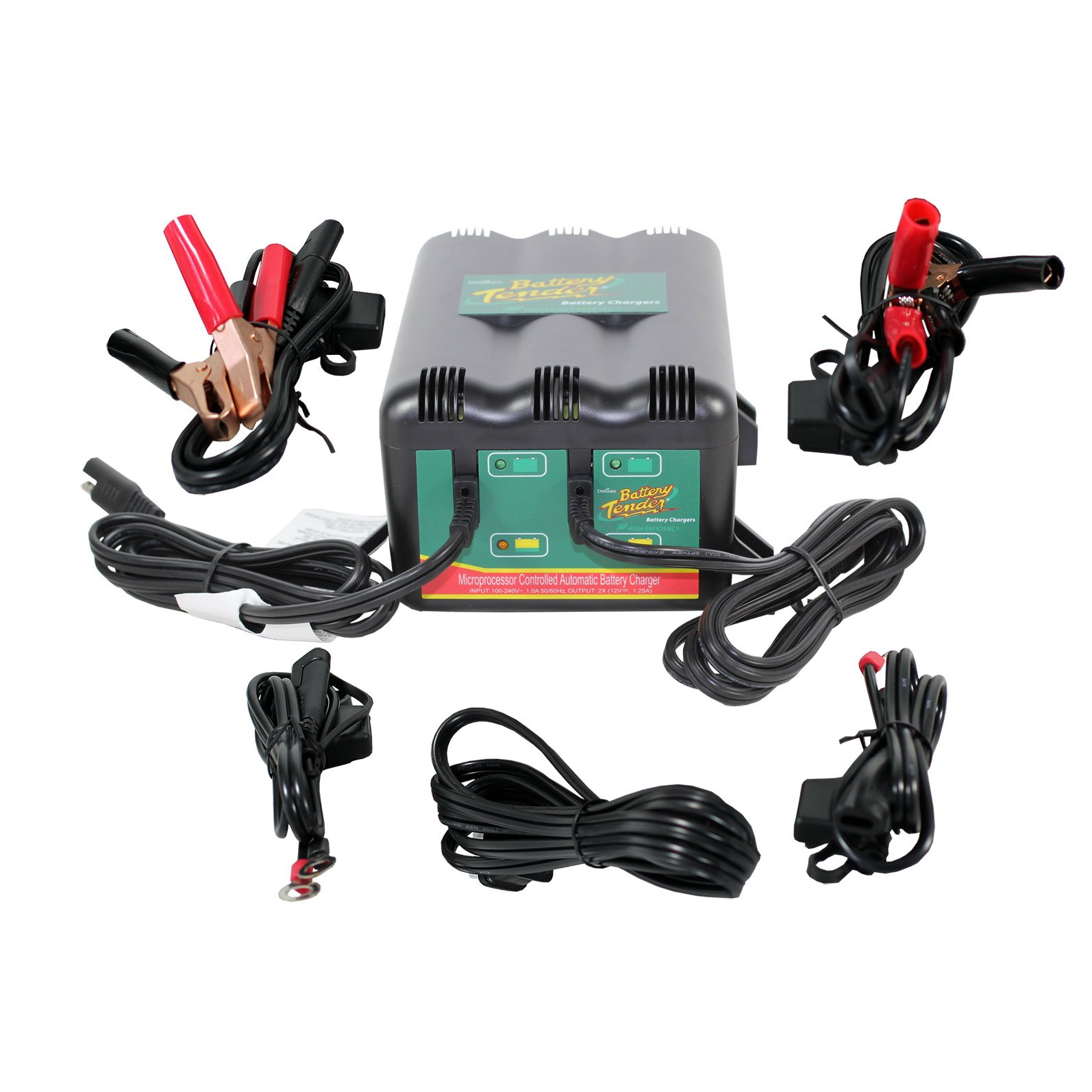 Battery Tender 12 Volt 125 Amp Charger 2 Banks Electrical Wiring California Compliant