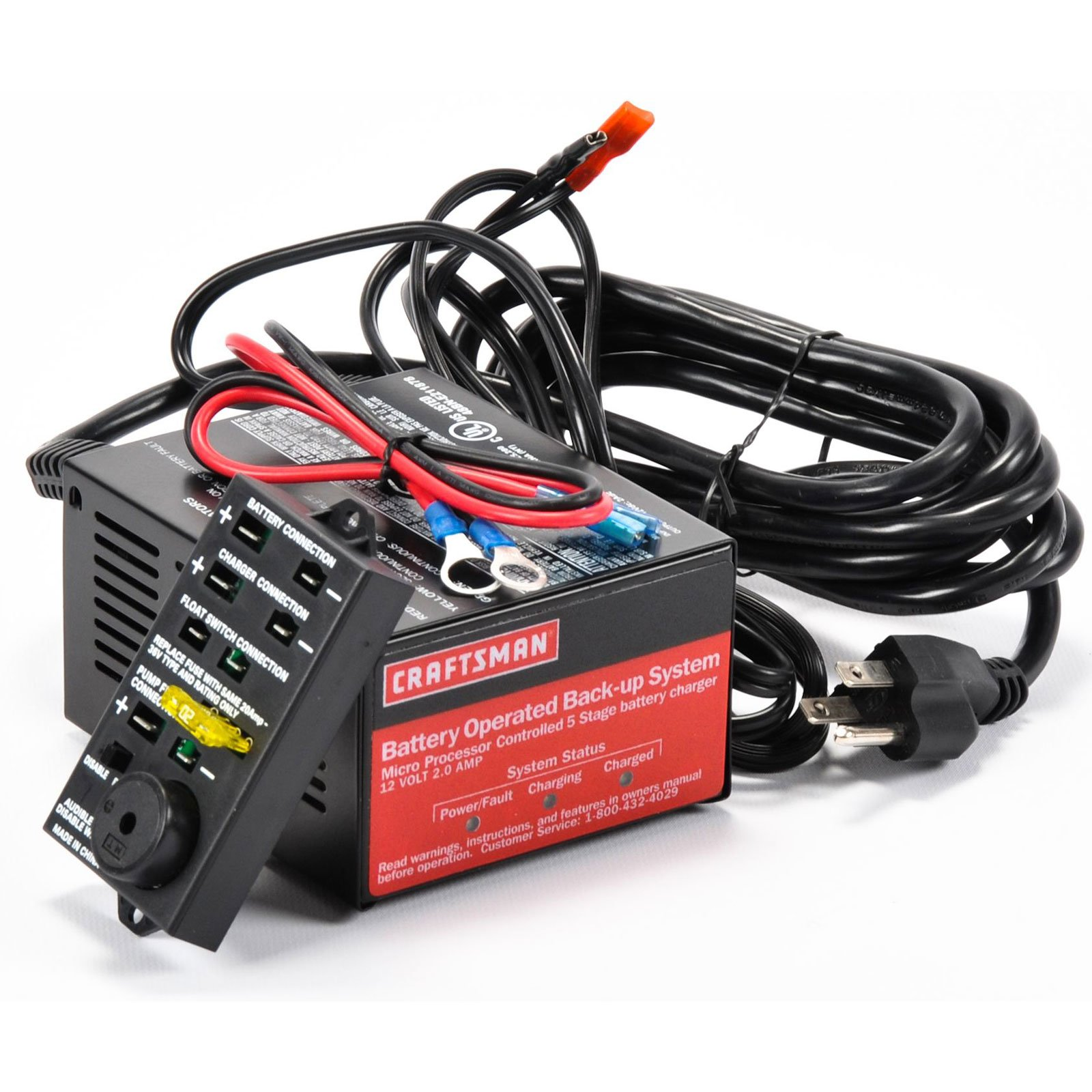 Craftsman 5 Stage 2a Charger With Ring Terminals