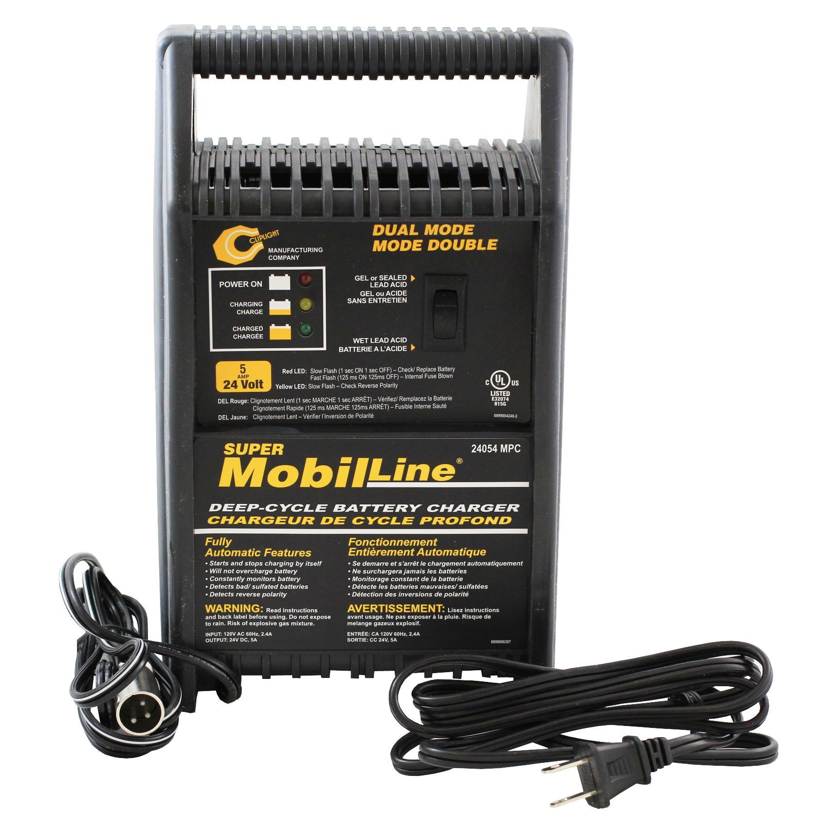 Cliplight Xlr Battery Charger 24 Volt 5 Amp Battery Charger