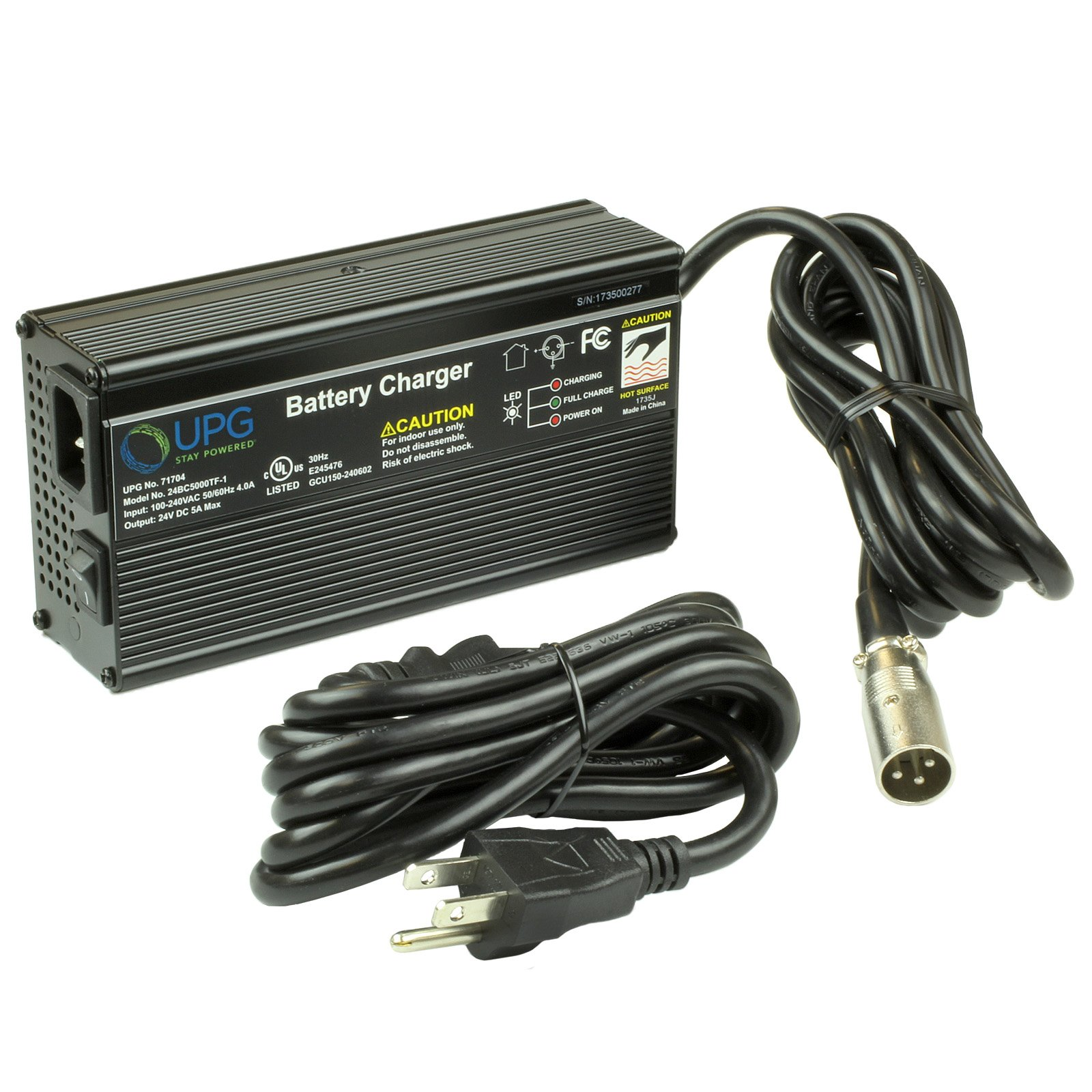 24 volt 5 amp battery charger with xlr connector non cec free rh batterymart com