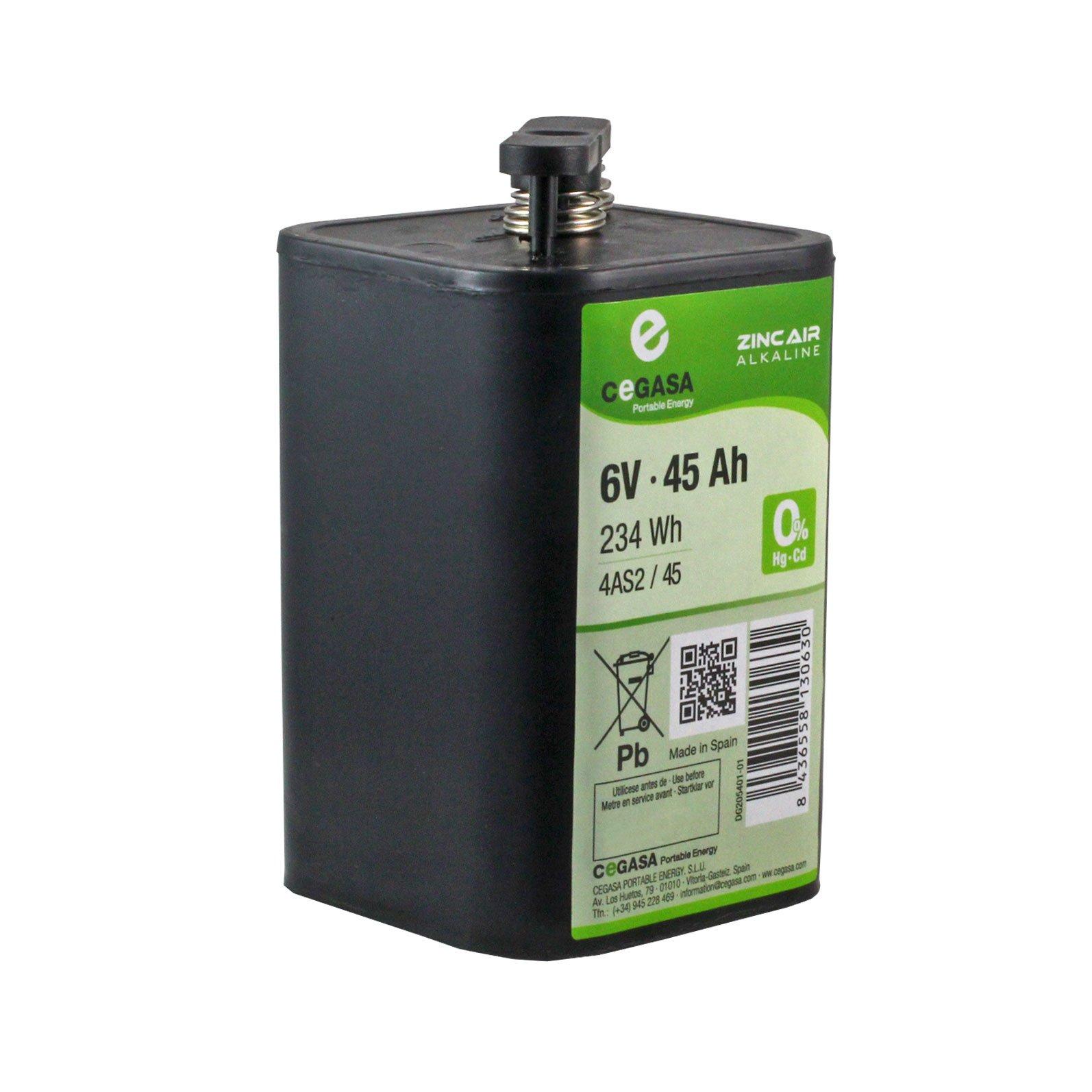 6 Volt 45 Ah Zinc Air Alkaline Battery Batterymart Com