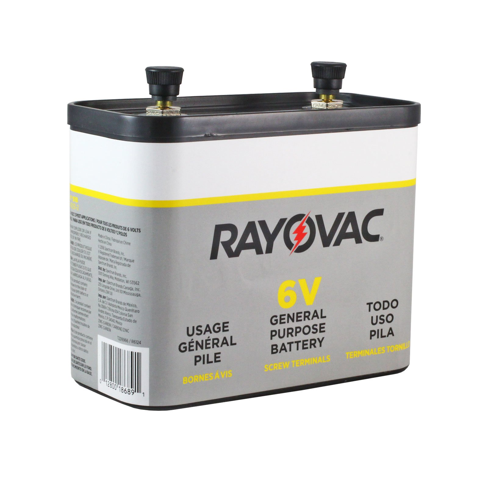 rayovac 918 general purpose 6 volt lantern battery free. Black Bedroom Furniture Sets. Home Design Ideas