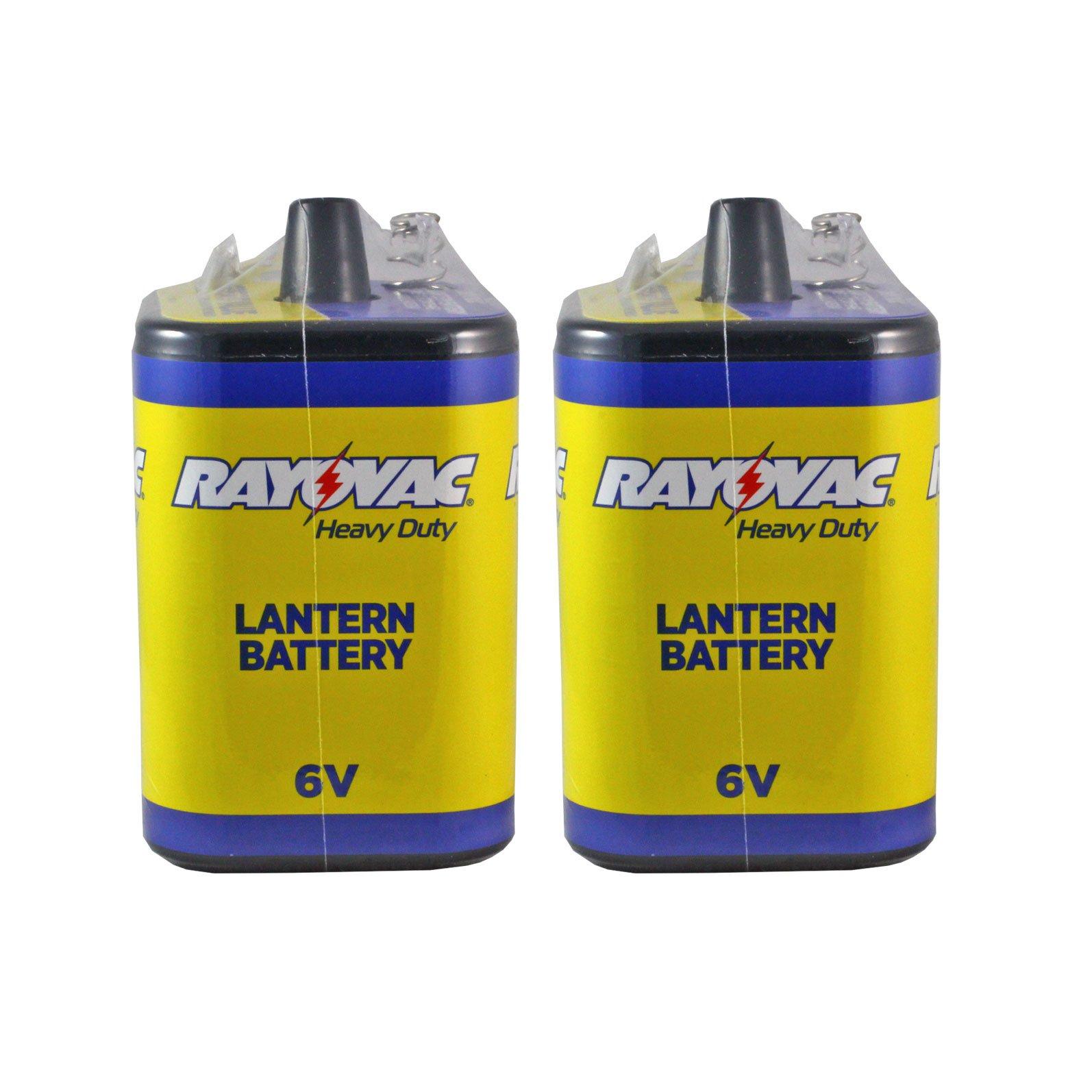 Rayovac 6 Volt Heavy Duty Lantern Battery 2 Pack