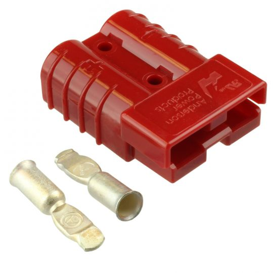 50 Amp Red #6 AWG Battery Connector Replaces Anderson 50 Amp