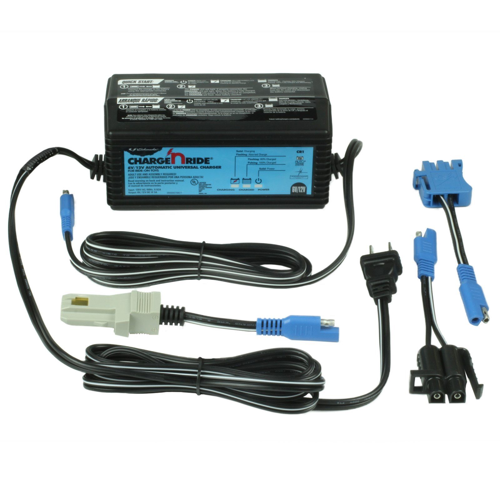 How To Charge A Car Battery Without A Charger >> 3a 6v 12v Universal Charger For Ride On Toys