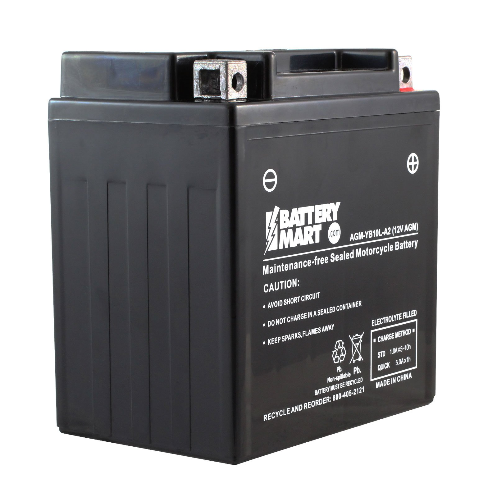 Yb10l A2 Agm Maintenance Free Battery 12 Volt 10 Ah