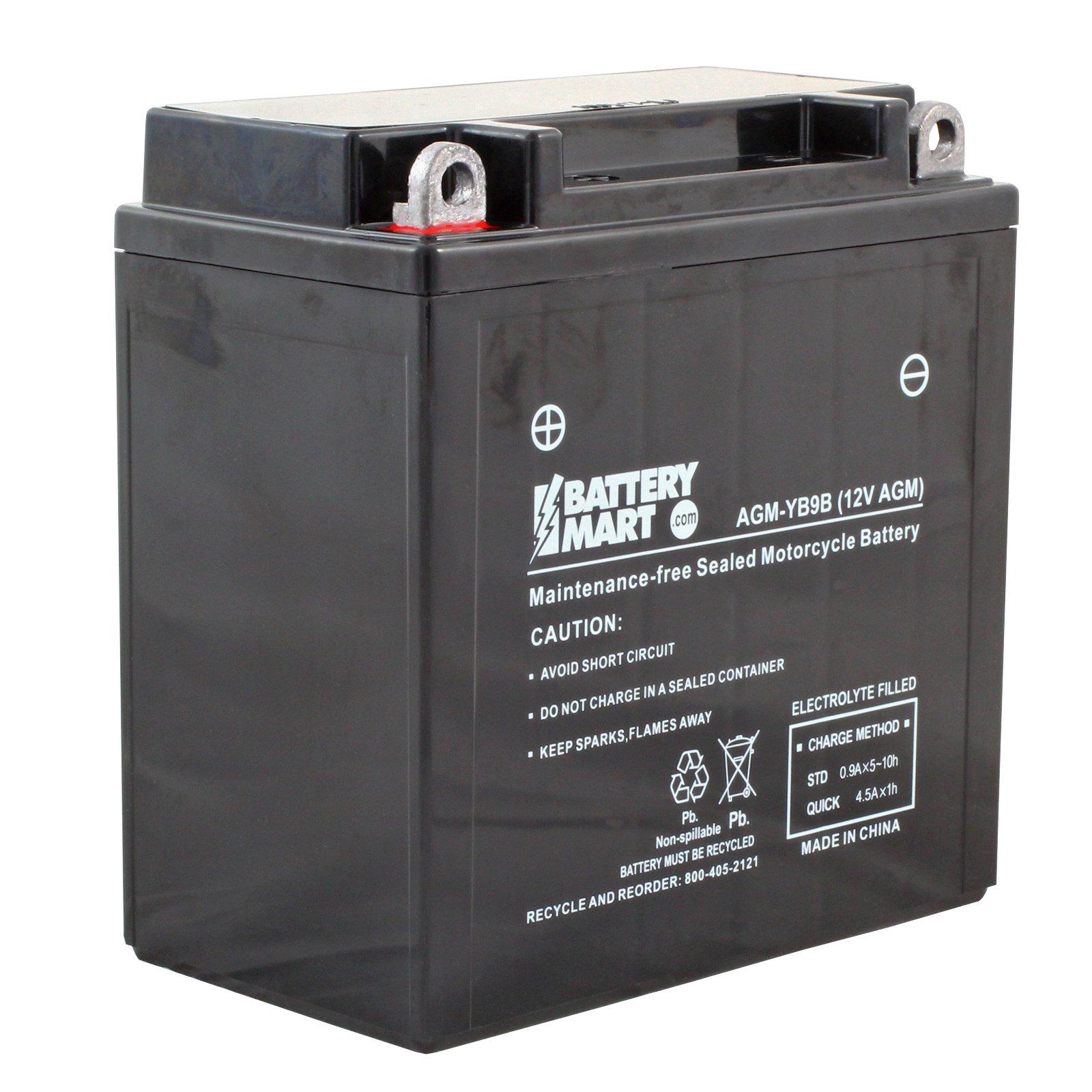 Yb9 B Agm Maintenance Free Battery Free Shipping