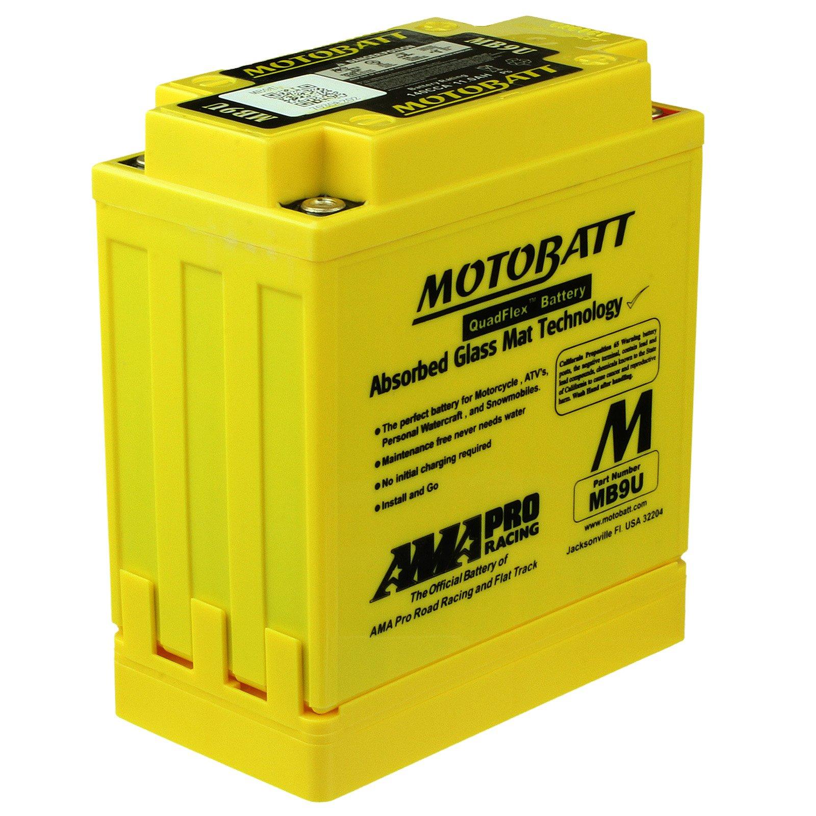 Motobatt Mb9u 12v 11ah Agm Battery Free Shipping