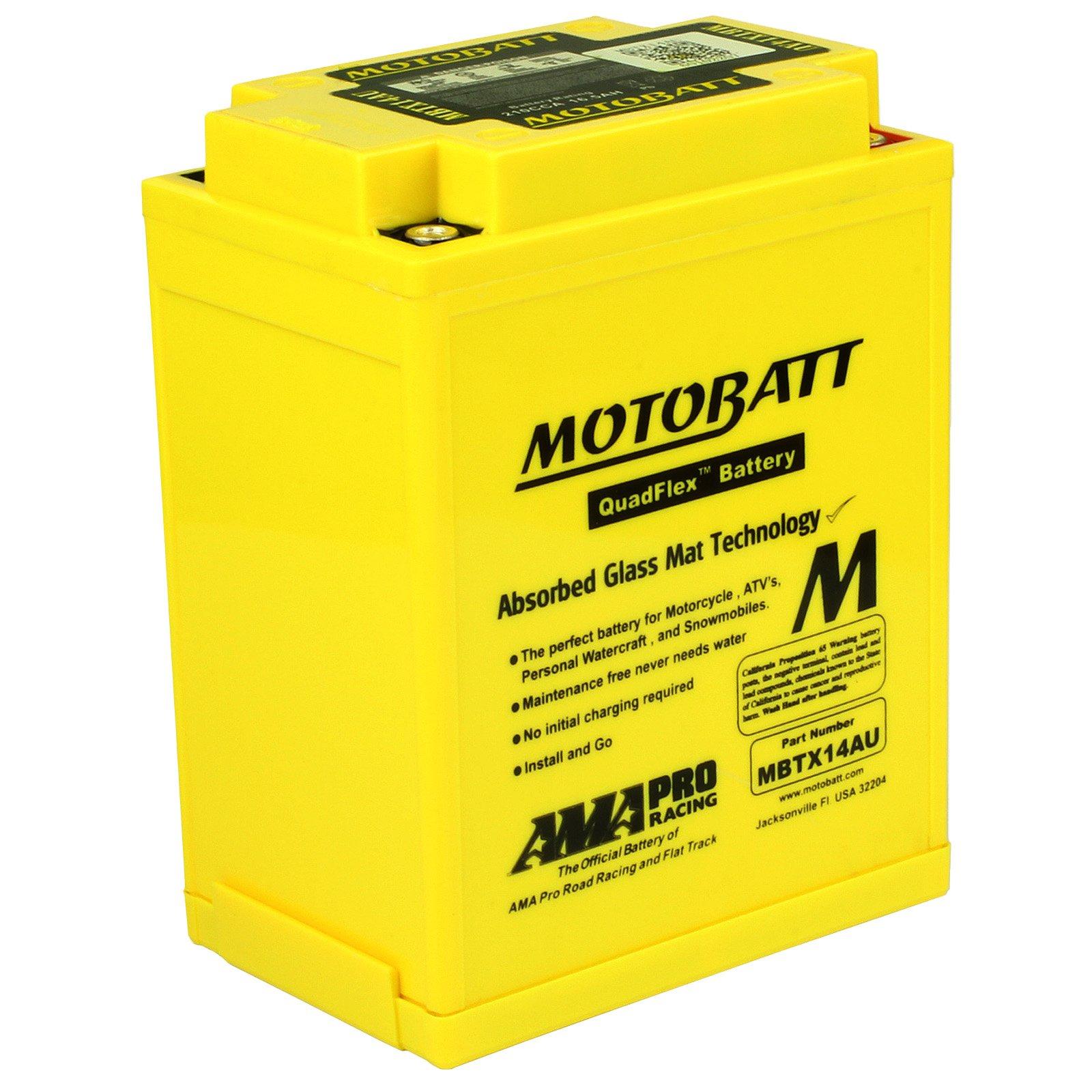 Motobatt MBTX14AU 12V 16 5Ah AGM Battery