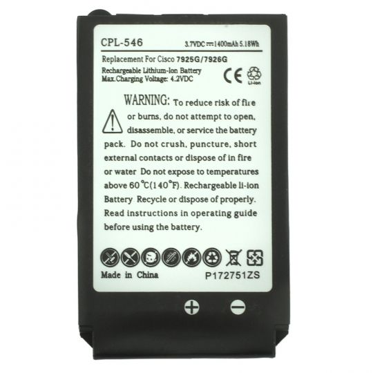 Replacement Cisco 74-5469-01, 74-5468-01 Battery