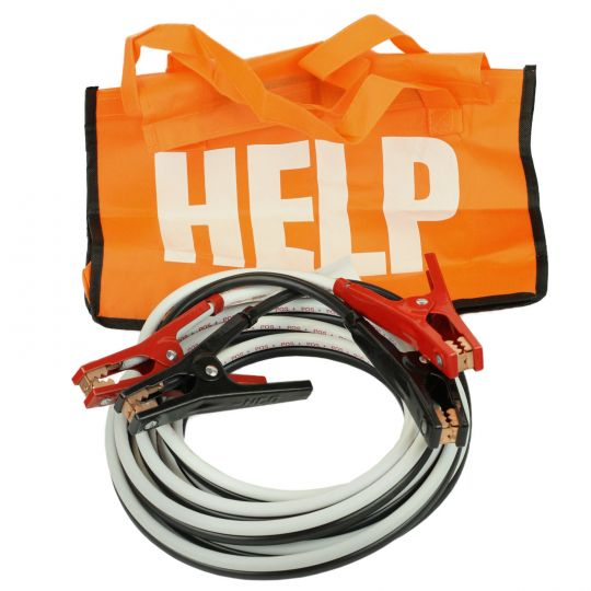 Deka 00164 Jumper Battery Cables 4 AWG Gauge x 12 FT Heavy Duty Car Booster Jump Start with Carry Bag USA