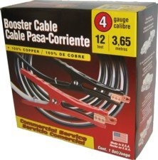 Deka 4 Gauge 12 Foot Booster Cables