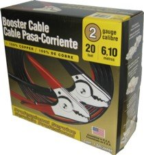 USA-Made Deka 2 Gauge 20 Foot Commercial Booster Cables