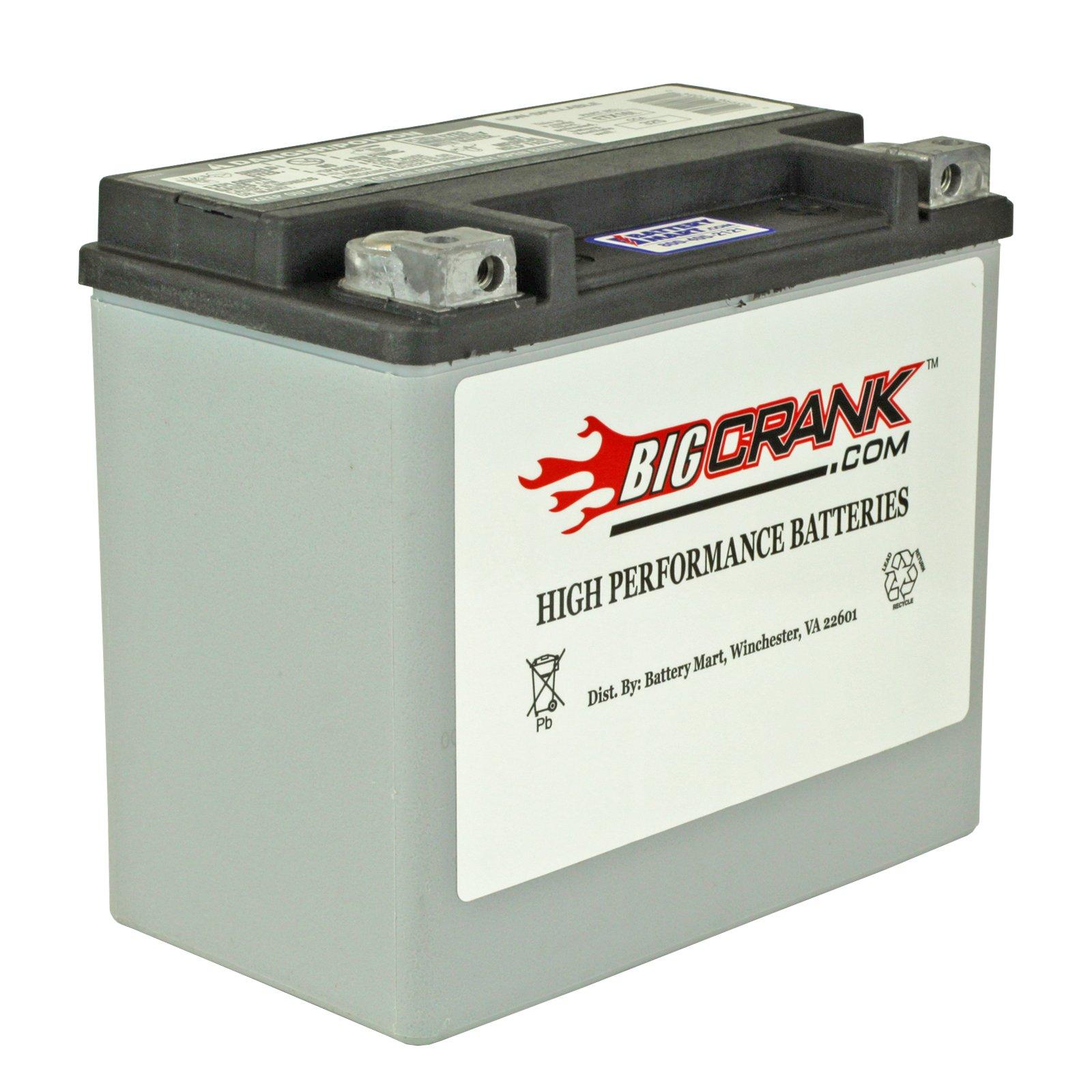 Big Crank Etx16l Battery 12 Volt 19 Ah Battery
