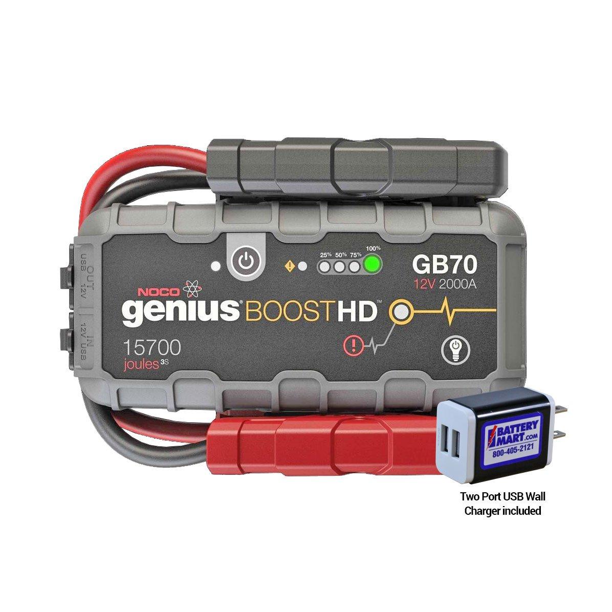 noco genius boost hd 2000a lithium jump starter for pickup trucks suvs many diesel engines. Black Bedroom Furniture Sets. Home Design Ideas