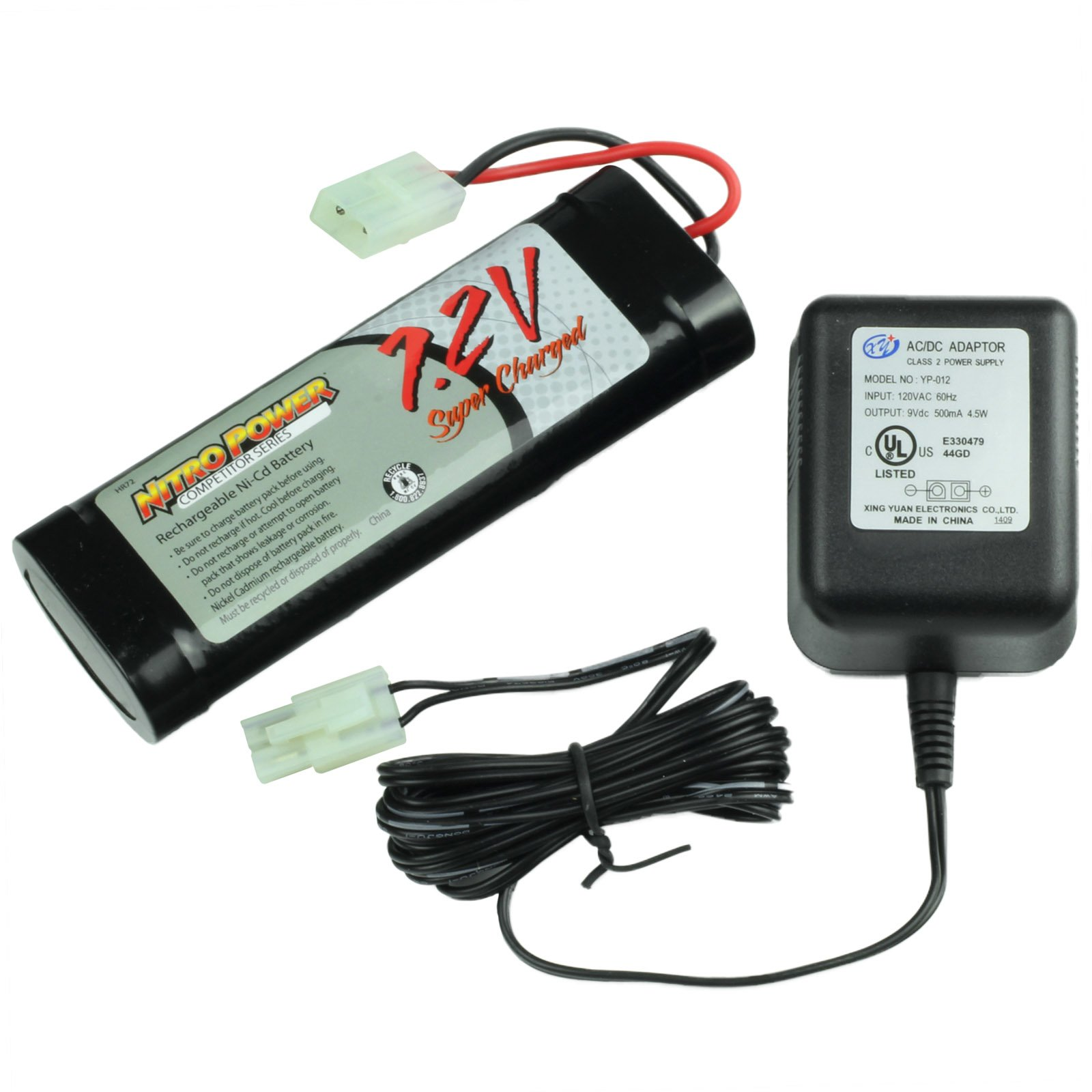 Replacement 7 2V Battery & Charger Kit for RC Cars