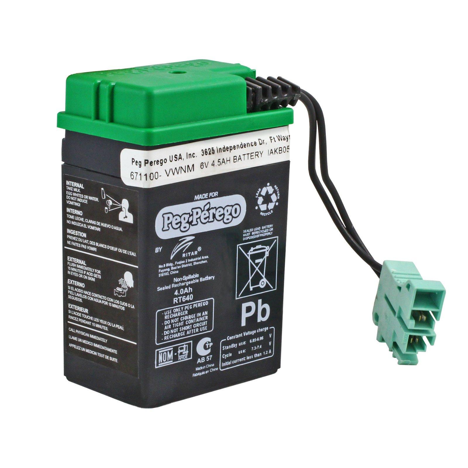replacement peg perego 6 volt green battery for peg perego. Black Bedroom Furniture Sets. Home Design Ideas