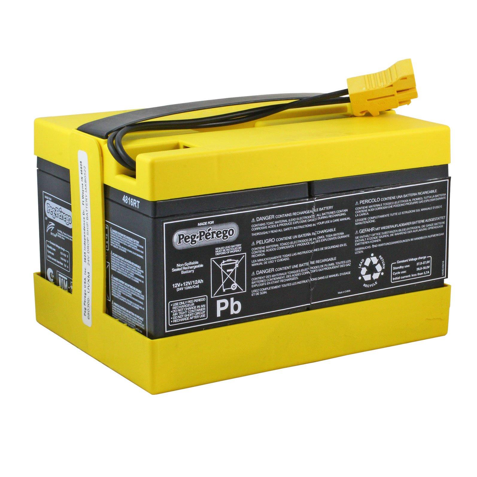 Peg Perego Original 24 Volt Yellow Battery Batterymart Com