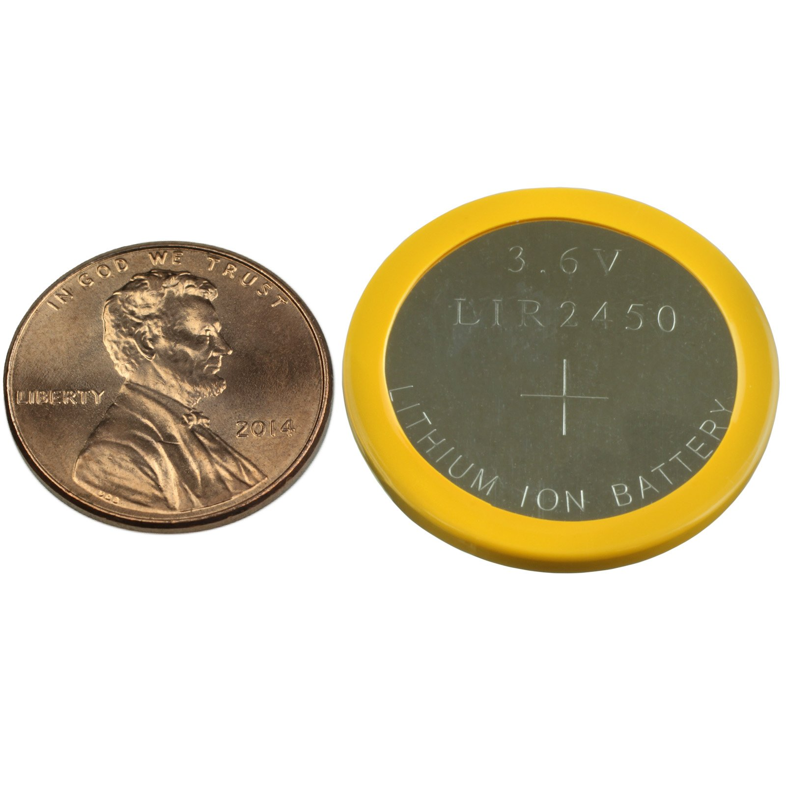 Rechargeable Lithium Cr2450 Coin Cell Battery