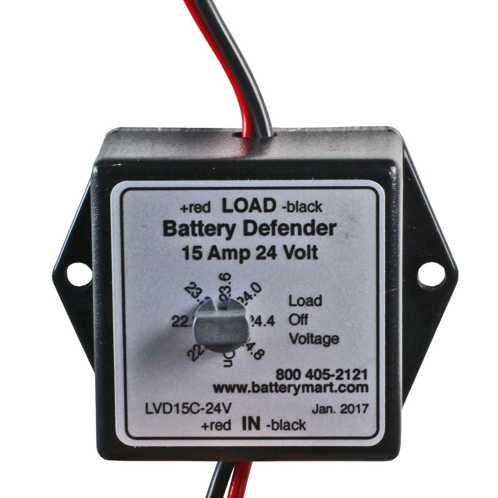 24 Volt 15 Amp Low Voltage Disconnect Battery Saver