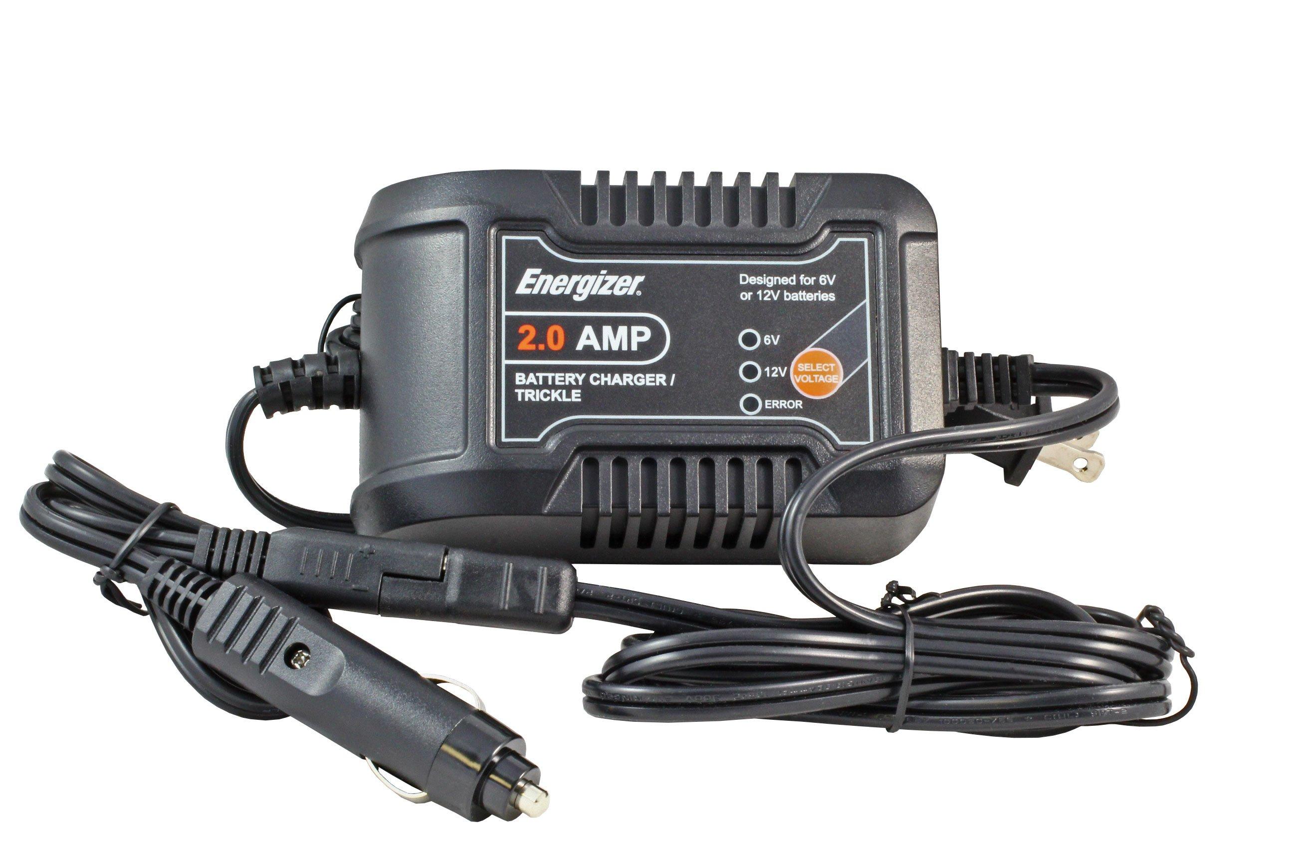 Energizer 6/12 Volt, 2 Amp Battery Charger with Cigarette ...