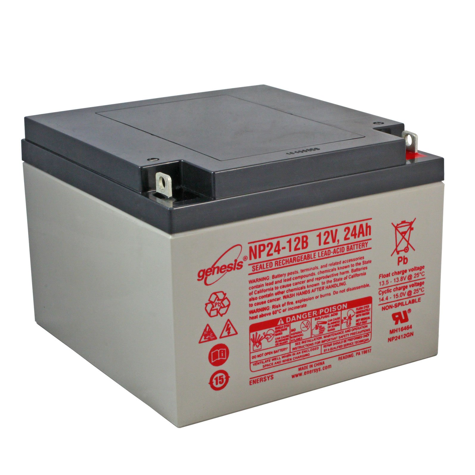 12 Volt 24 Ah Sealed Lead Acid Rechargeable Battery