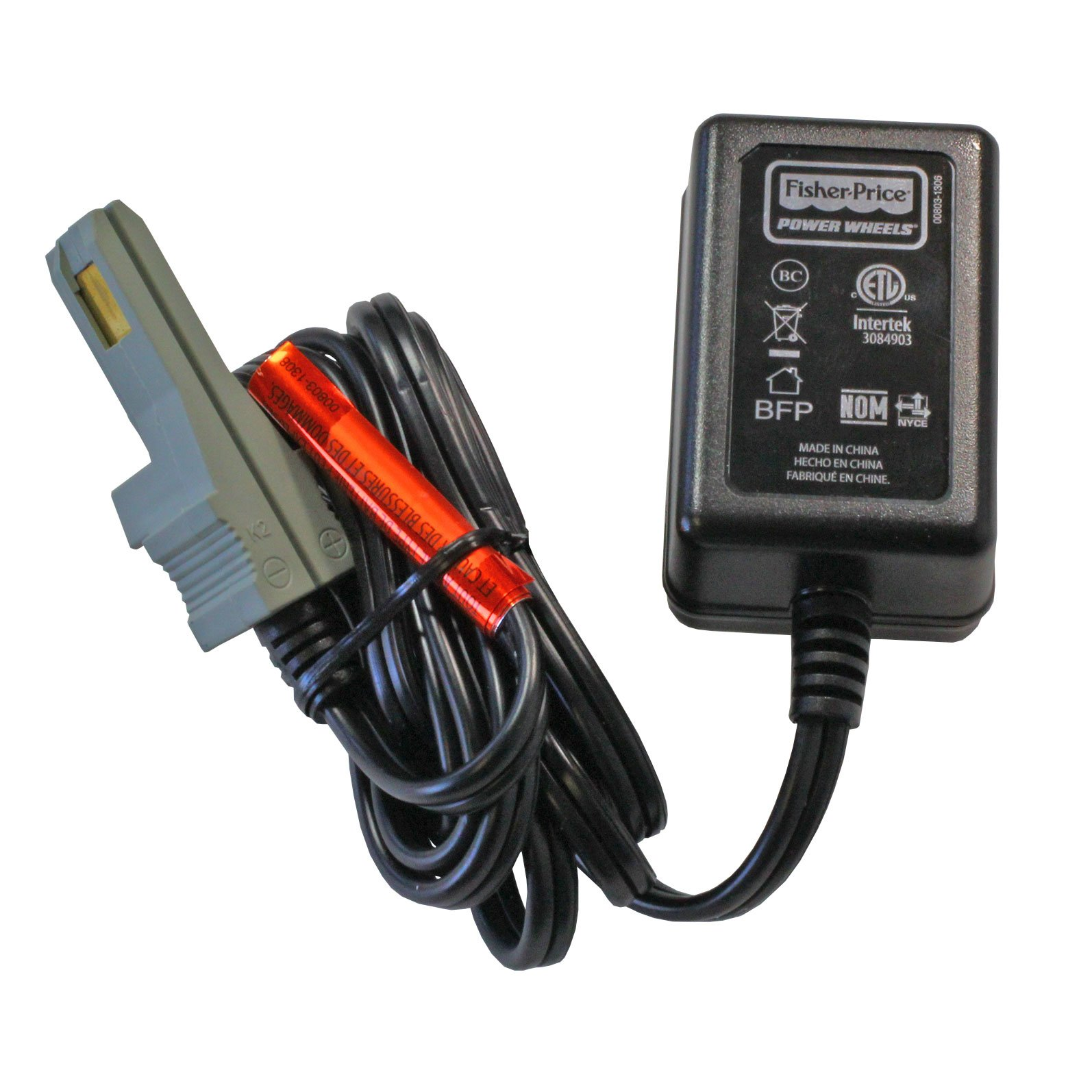 12 volt probe power wheels battery charger for gray and orange batteries