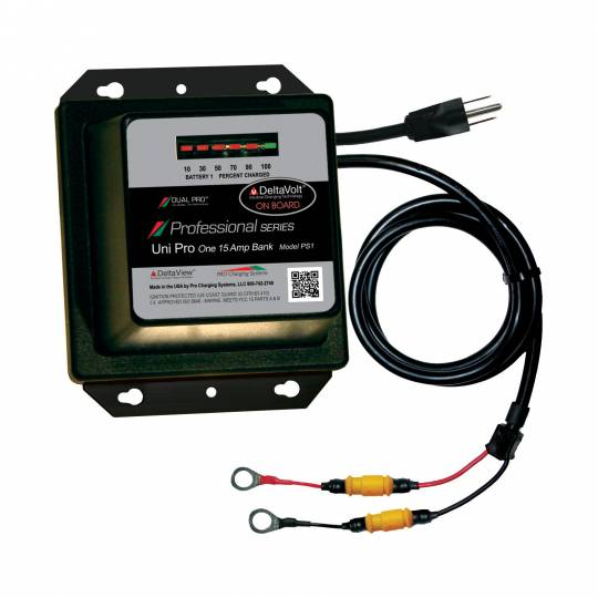 Dual Pro Professional Series 12 Volt 15 Amp Battery Charger Verizon Battery V Wire Harness on