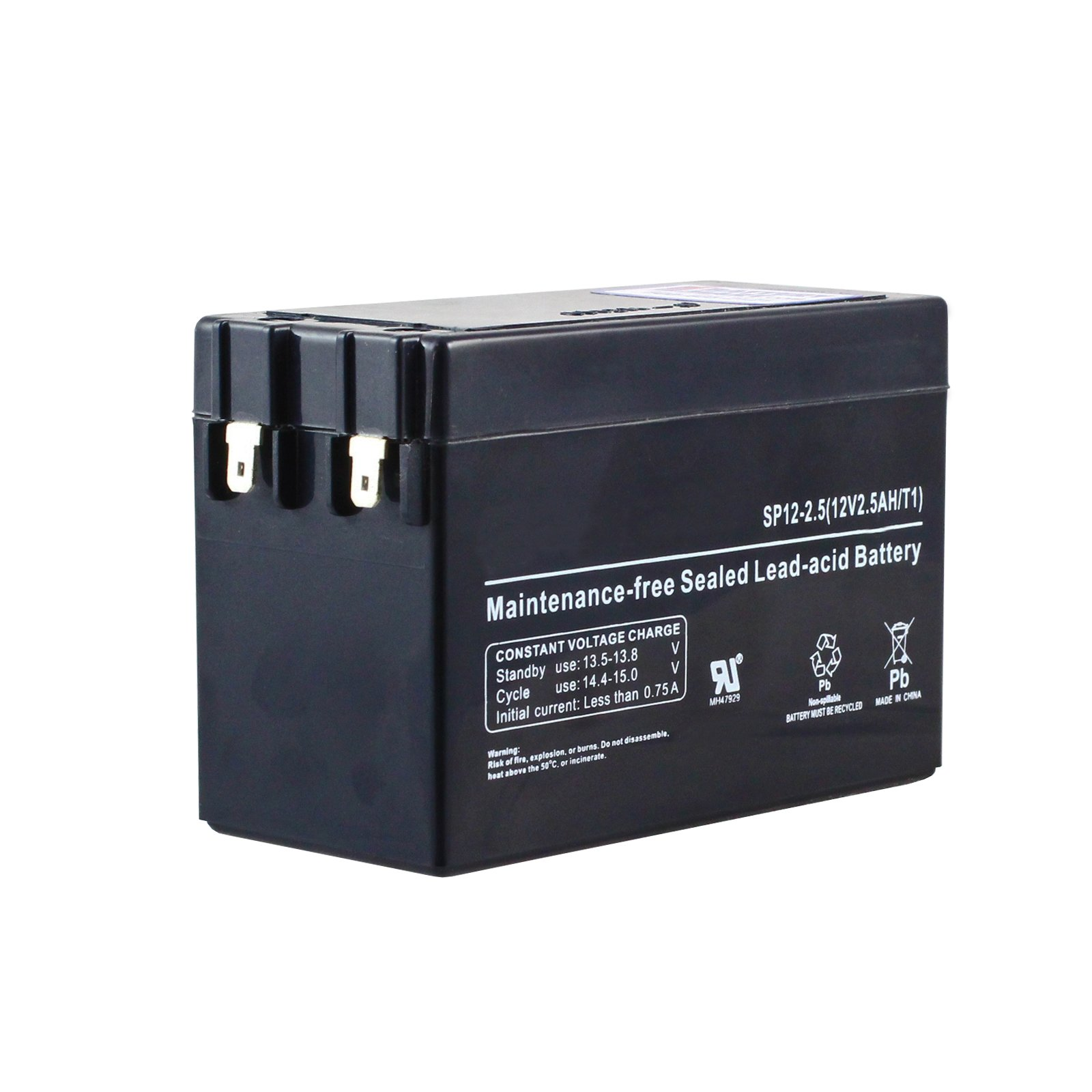 12 volt 2 5 ah sealed lead acid rechargeable battery free shipping. Black Bedroom Furniture Sets. Home Design Ideas