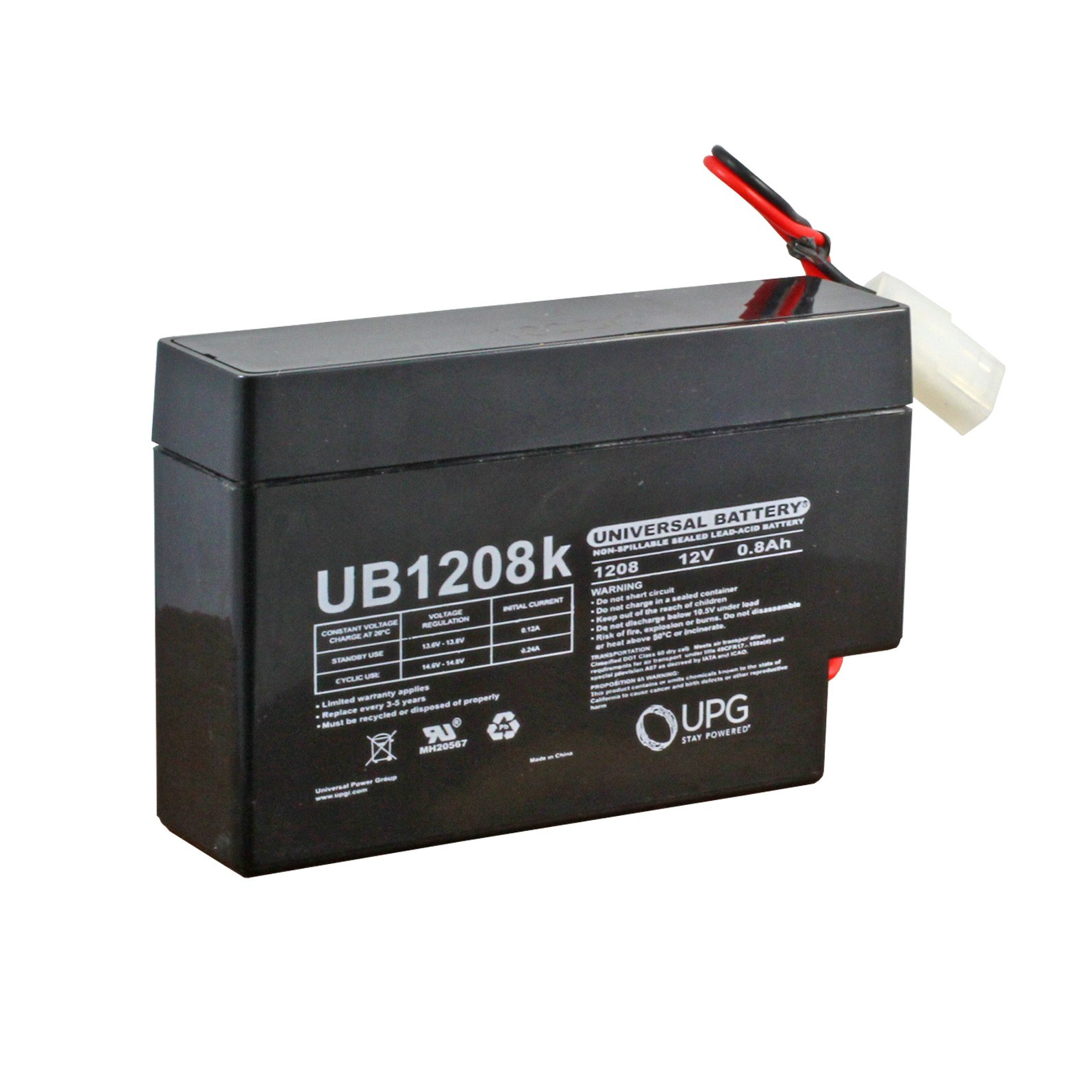 12 Volt 0 8 Ah Sealed Lead Acid Rechargeable Battery