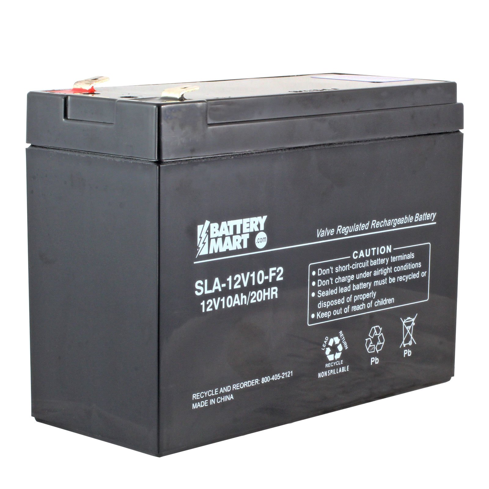Solar Rechargeable Batteries >> 12 Volt 10 Ah Sealed Lead Acid Rechargeable Battery: BatteryMart.com