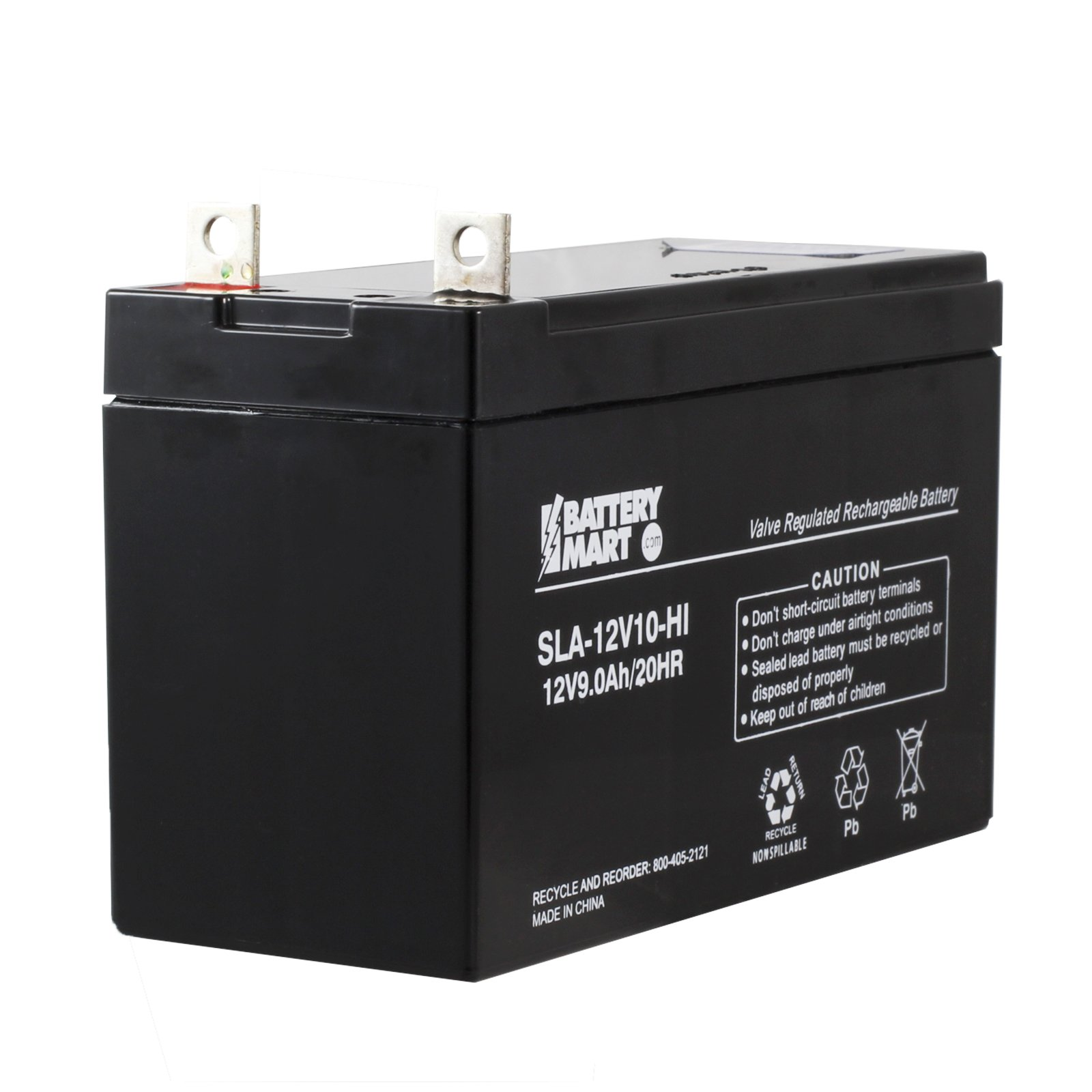 12 Volt, 9 Ah Sealed Lead Acid Rechargeable Battery with ...