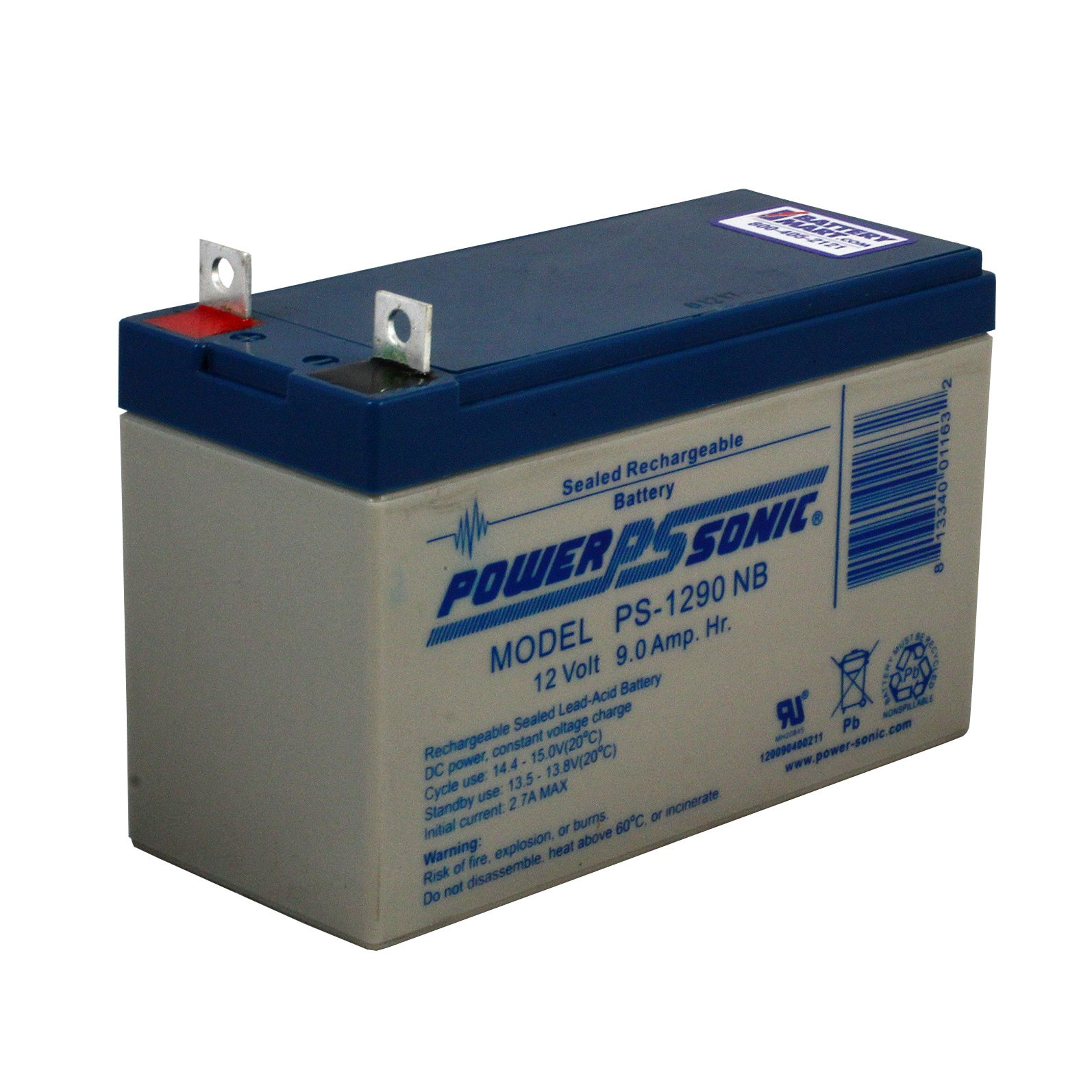 12 Volt 9 Ah Sealed Lead Acid Rechargeable Battery With
